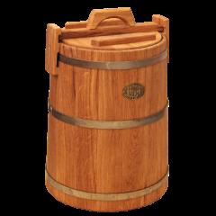 Кадка дубовая 50 л «Бонпос» (обручи из нерж. стали)