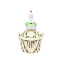 Комплект для браги (Банка в пластиковой корзине 10 л + гидрозатвор)